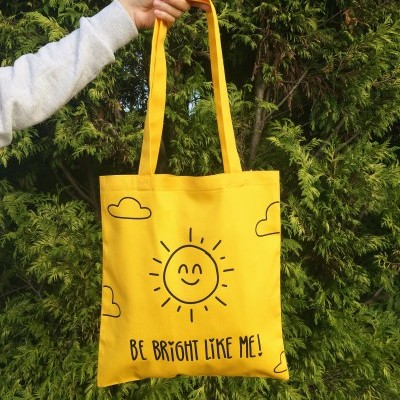 TOTE BAG AMARELO | BE BRIGHT