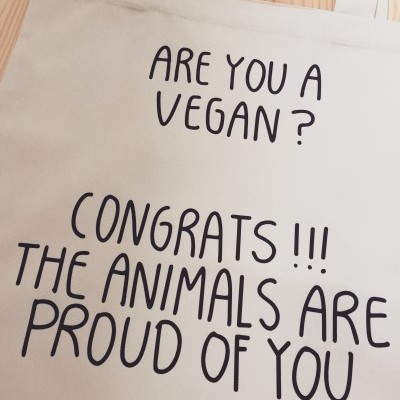 Tote Bag Are You a Vegan?