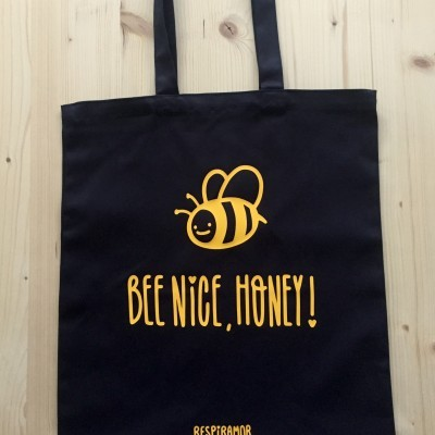 Tote Bag Preto | Bee Nice, Honey