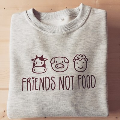 Sweatshirt Cardada Friends Not Food