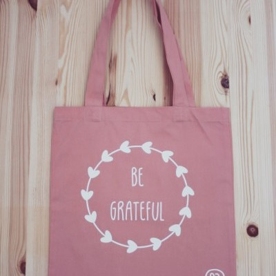 Tote Bag Rosa Be Grateful