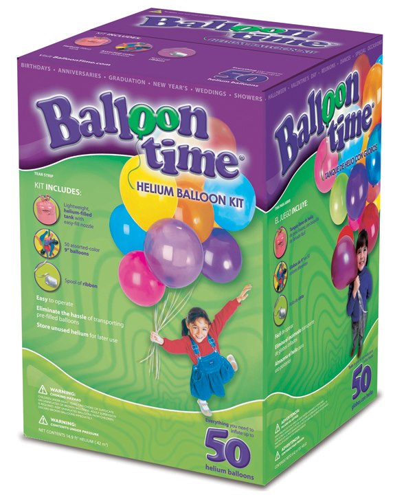 Kit balões hélio -ballon time 50