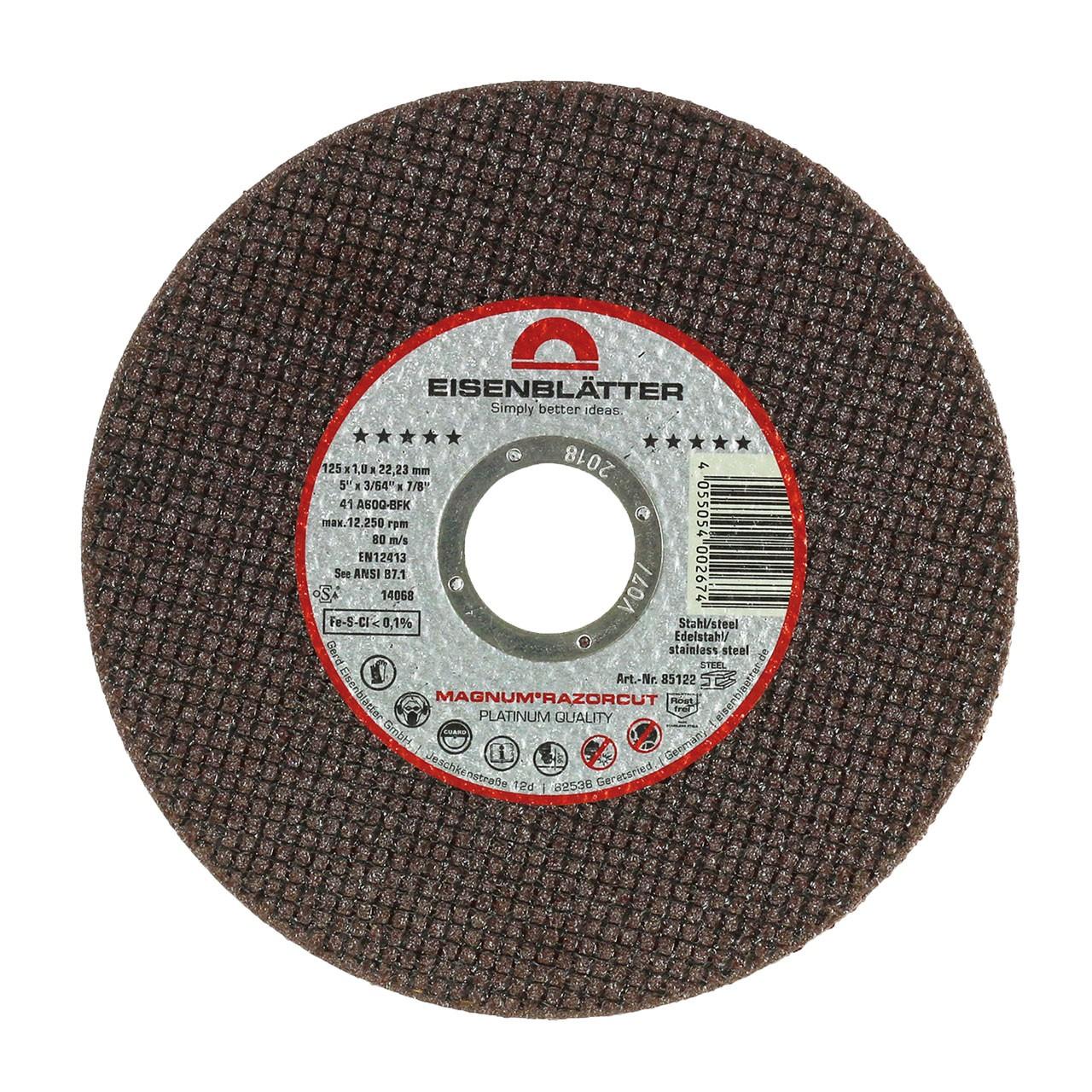 """Discos de corte MAGNUM® RAZORCUT® Disco de corte de 125 x 22,2 mm, 1,0 mm """"Embalagem de 25 unid."""""""