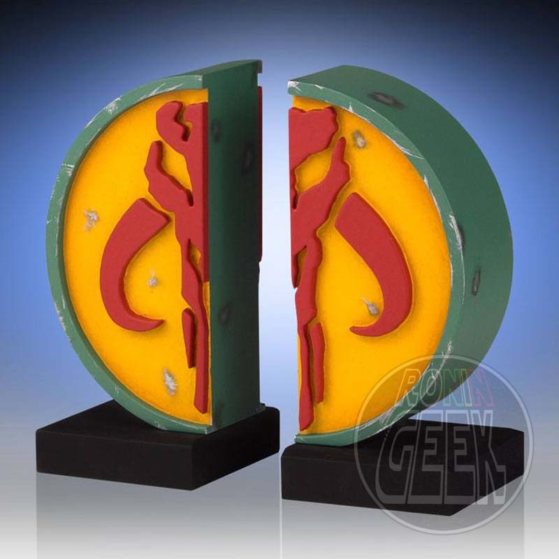 Star Wars Bookends Mandalorian Logo