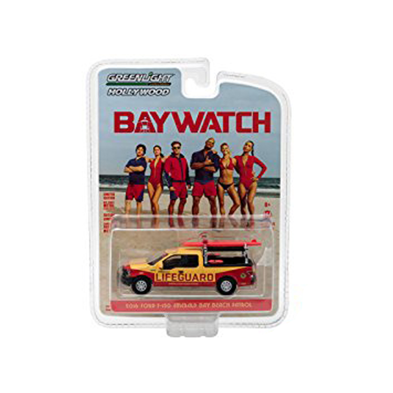 GREENLIGHT COLLECTIBLES Baywatch Diecast Model 1/64 2016 Ford F-150 Emerald Bay Beach Patrol