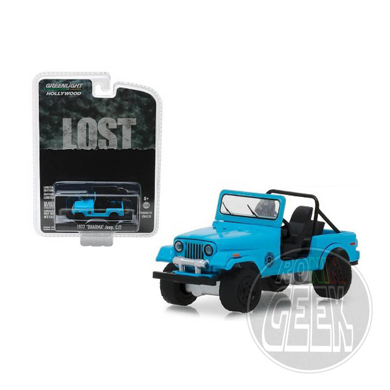 Greenlight Collectibles Lost Diecast Model 1/64 1977 Jeep CJ-7 Dharma