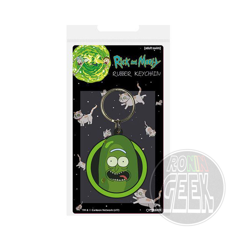 Rick and Morty Rubber Keychain Pickle Rick