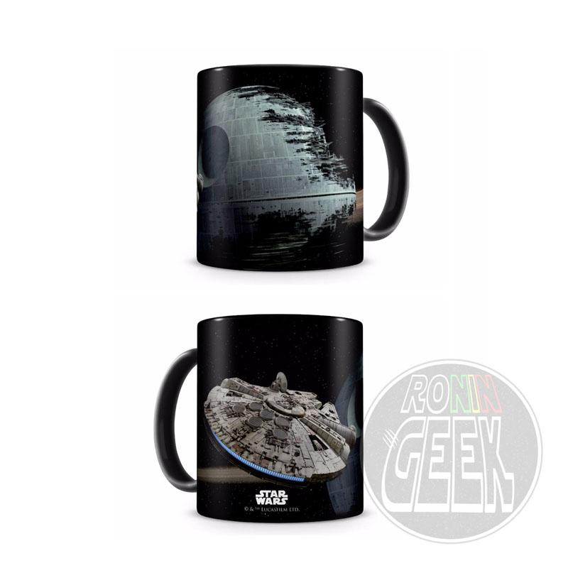 Caneca Star Wars - Millennium Falcon vs. Death Star