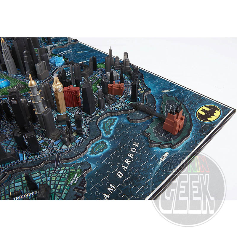 4D CITYSCAPE DC Comics Batman Gotham City Large 3D Puzzle