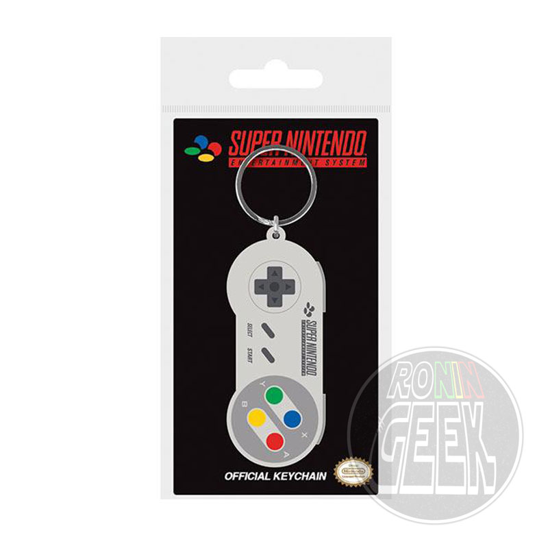 Nintendo Rubber Keychain SNES Controller