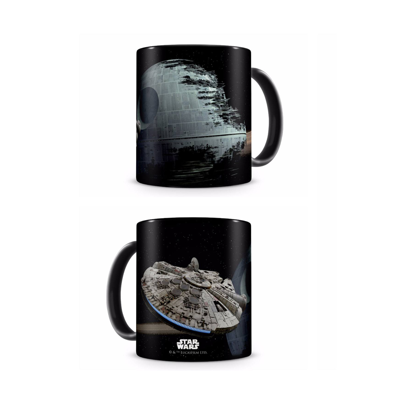 Caneca Star Wars - Millennium Falcon vs. Death Star