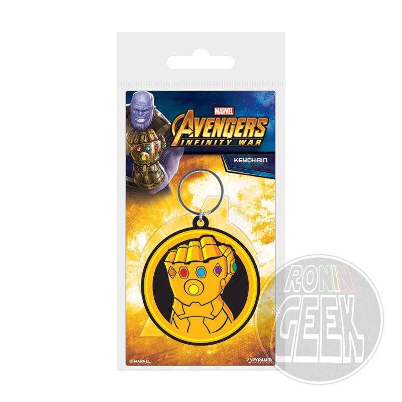 Avengers Infinity War Rubber Keychain Infinity Gauntlet