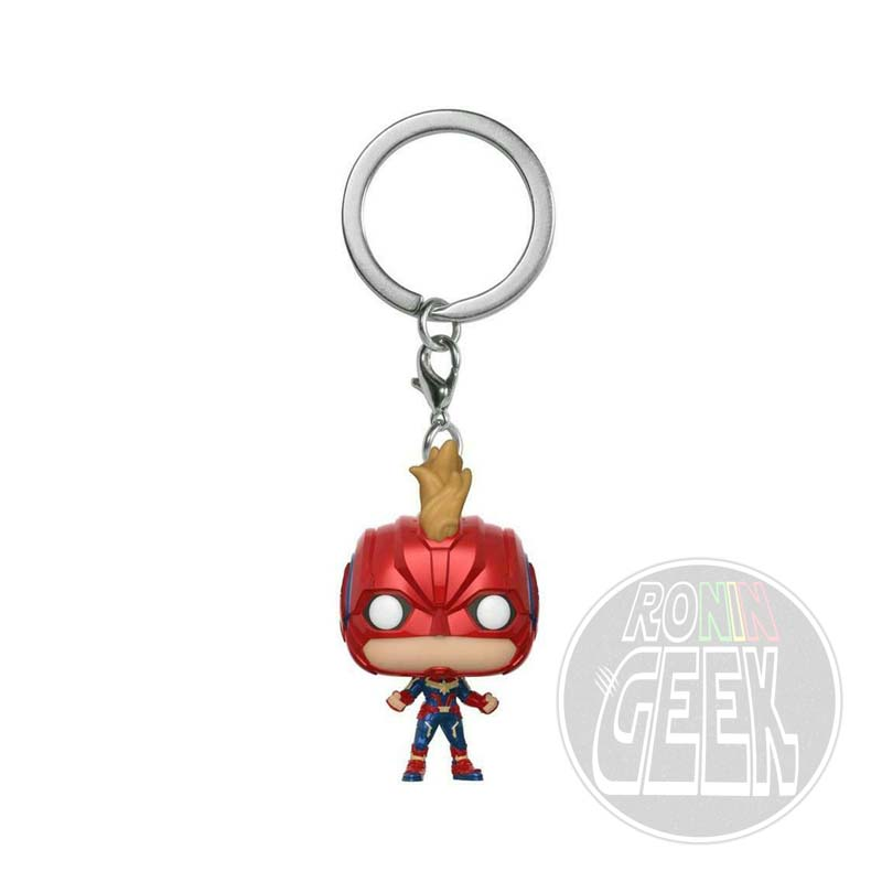 FUNKO POP! Keychain: Captain Marvel - Captain Marvel (with Helmet)