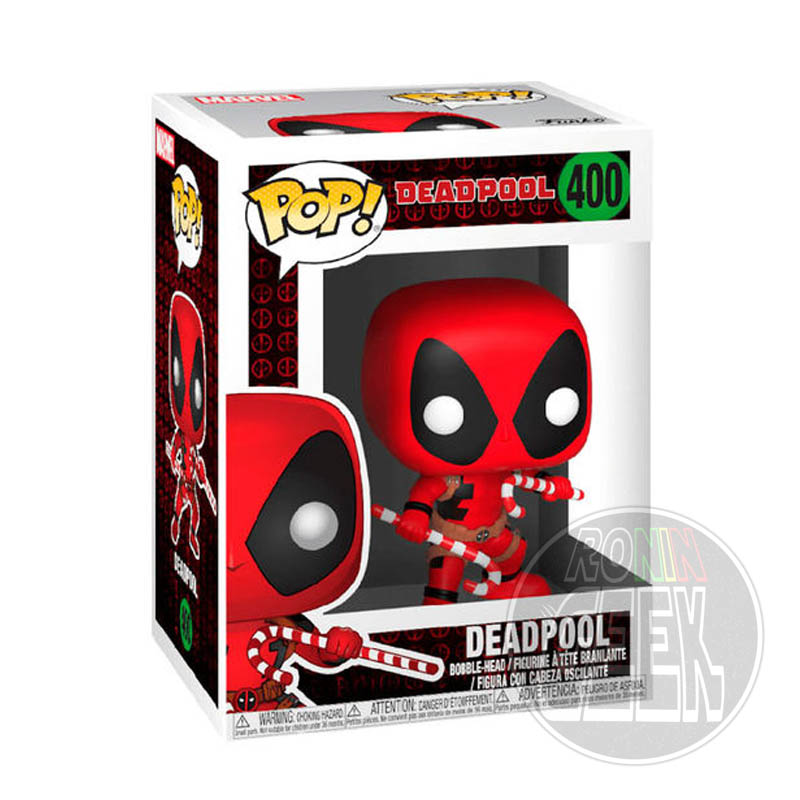 FUNKO POP! Marvel Holiday - Deadpool (Candy Canes)