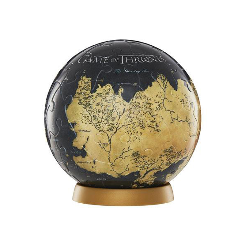 4D CITYSCAPE Game Of Thrones 3D Globe Puzzle Unknown World (80 peças)