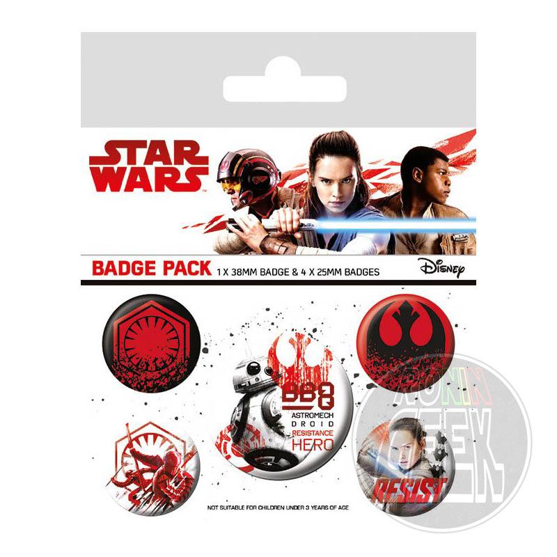 Star Wars Episode VIII Pin Badges 5-Pack Resist