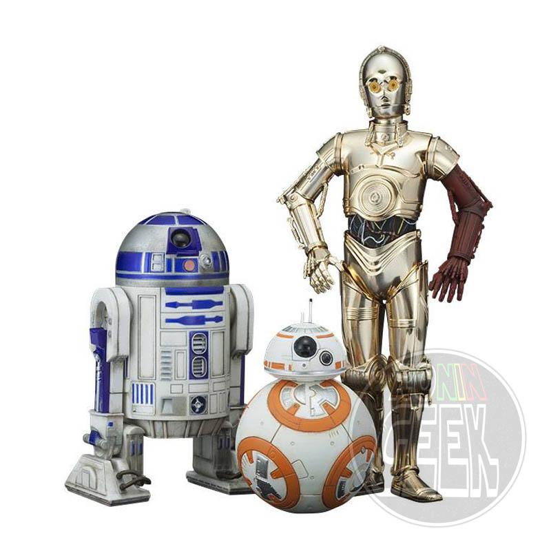 KOTOBUKIYA Star Wars Episode VII Statue 3-Pack 1/10 C-3PO & R2-D2 & BB-8