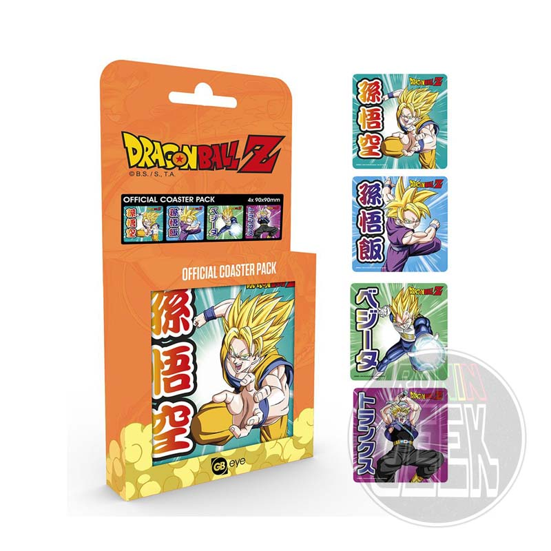 Dragonball Z Coaster Mix 4-Pack