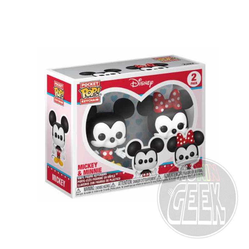 FUNKO POP! Keychain: Disney - Mickey & Minnie (2-Pack)