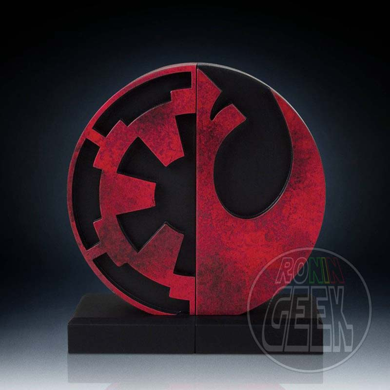 Star Wars Bookends Imperial/Rebel Logo