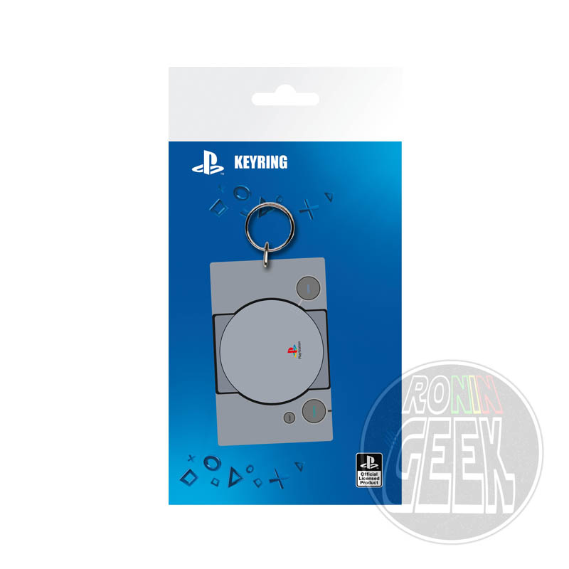 Playstation Console rubber keychain