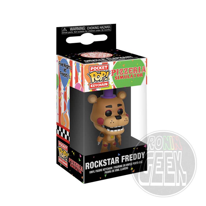FUNKO POP! Keychain: Five Nights at Freddy's Pizzeria Simulator - Rockstar Freddy