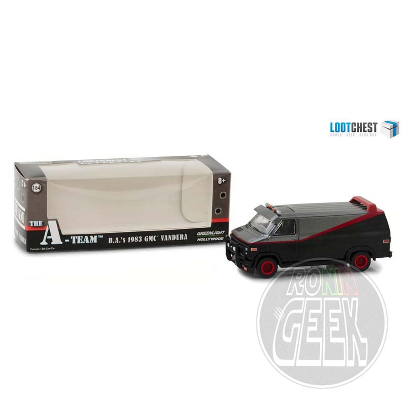 GREENLIGHT COLLECTIBLES A-Team Diecast Model 1/64 1983 GMC Vandura Lootchest Exclusive