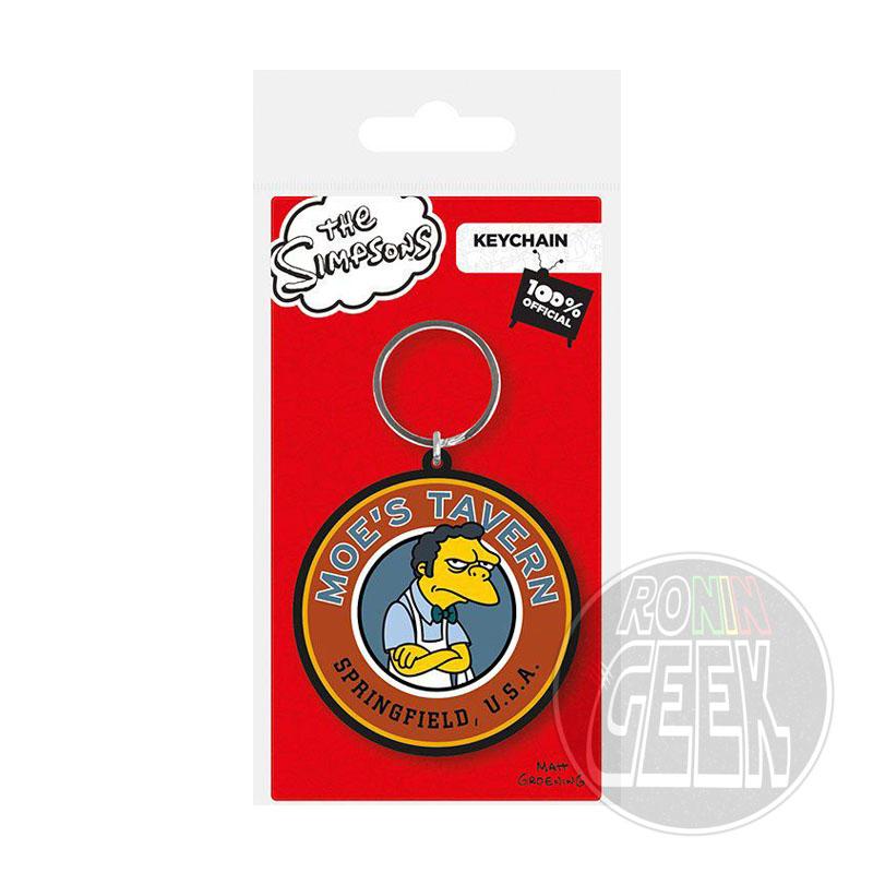 Simpsons Rubber Keychain Moe's Tavern