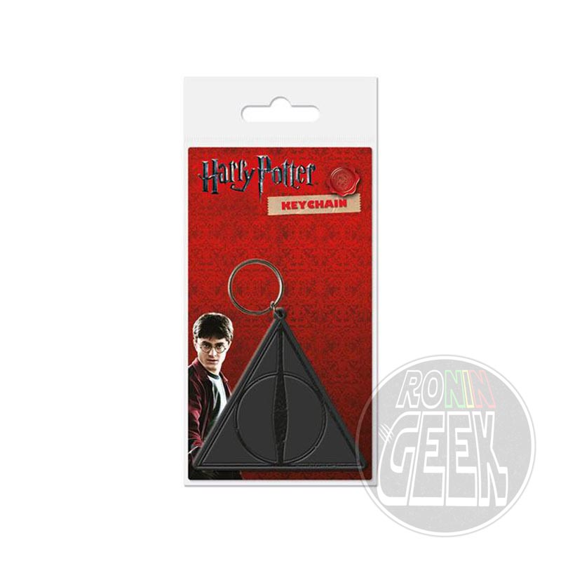 Harry Potter Rubber Keychain Deathly Hallows