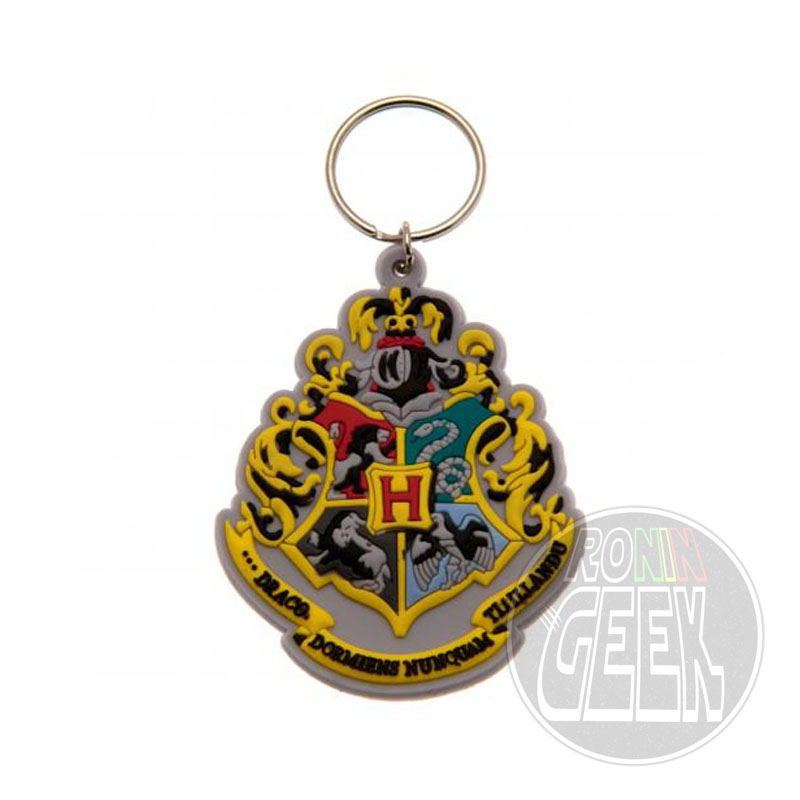 Harry Potter Rubber Keychain Hogwart's Crest