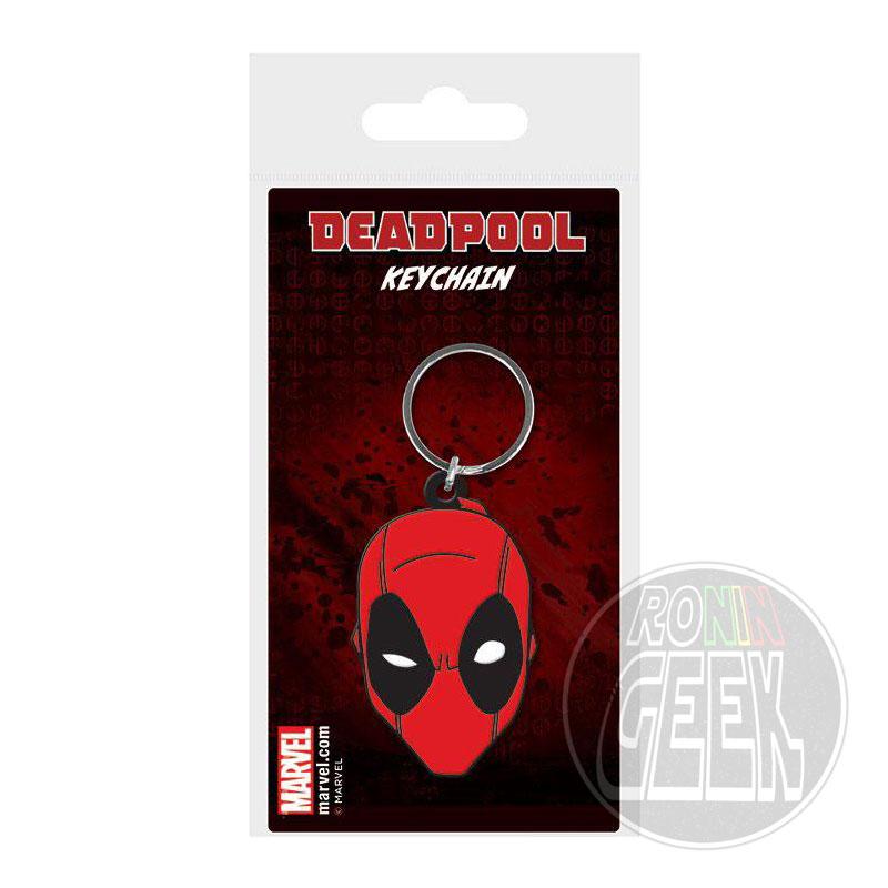 Marvel Comics Rubber Keychain Deadpool Face