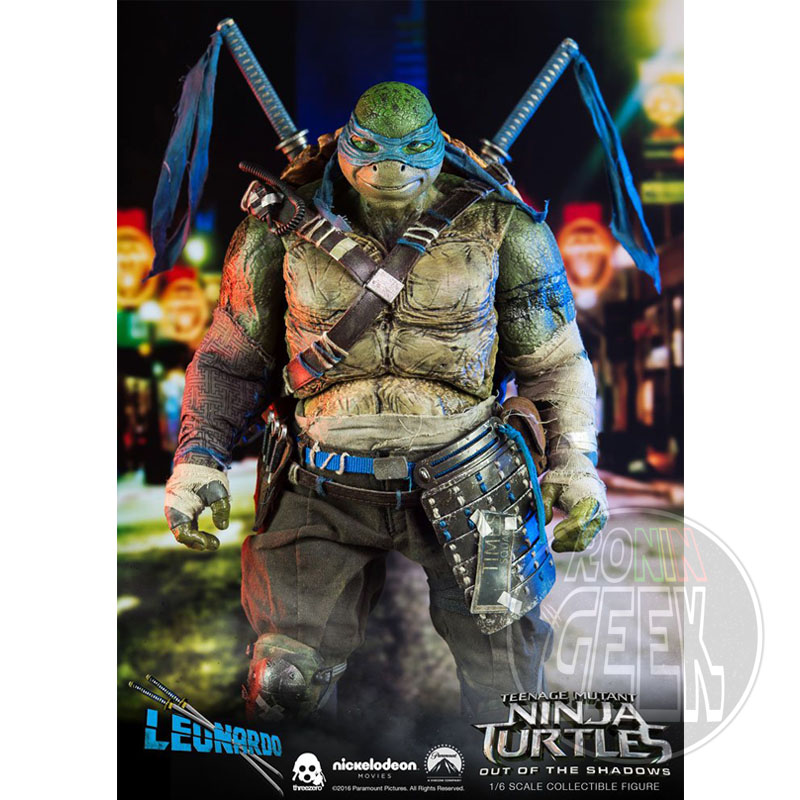THREEZERO Teenage Mutant Ninja Turtles Out of the Shadows Action Figure 1/6 Leonardo