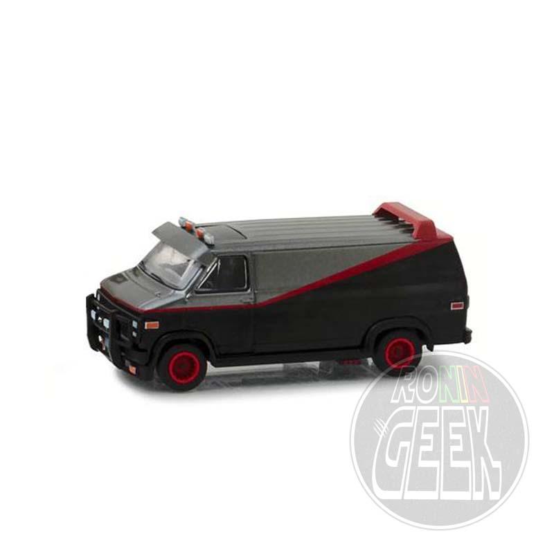GREENLIGHT COLLECTIBLES A-Team Diecast Model 1/64 1983 GMC Vandura Lootchest Exclusive
