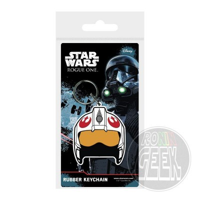Star Wars Rogue One Rubber Keychain Rebel Helmet