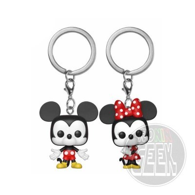 FUNKO POP! Keychain: Disney - Mickey & Minnie (2-Pack)