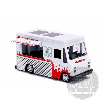 JADA Deadpool Diecast Model Hollywood Rides 1/32 Deadpool Foodtruck