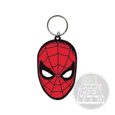 Spider-Man Rubber Keychain Face