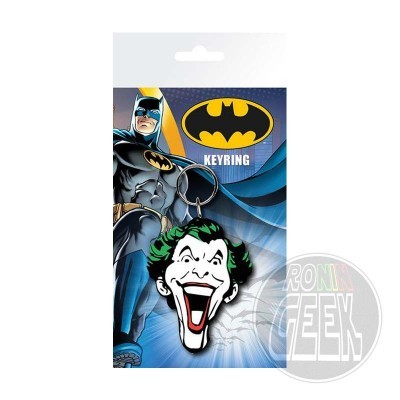 Batman Comic Rubber Keychain Joker Face