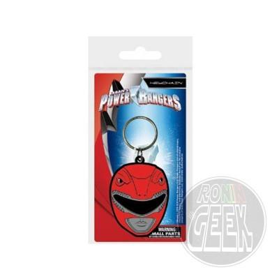 Power Rangers Rubber Keychain Red Ranger Helmet