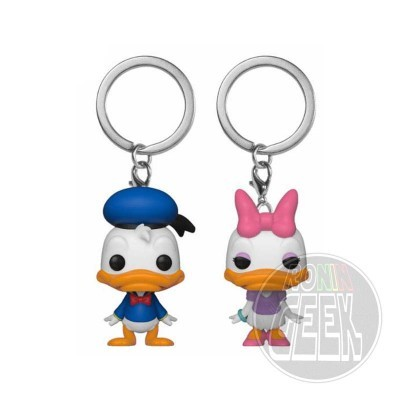 FUNKO POP! Keychain: Disney - Donald & Daisy (2-Pack)