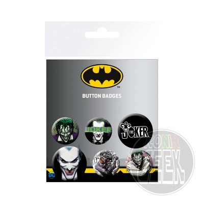 DC Comics Joker badge 6-Pack