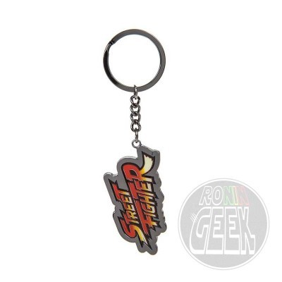 Street Fighter Metal Keychain Logo