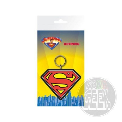 DC Comics Superman Logo rubber keychain