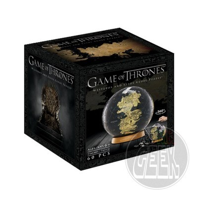 4D CITYSCAPE Game Of Thrones 3D Globe Puzzle Unknown World (60 peças)