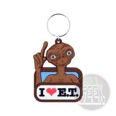 E.T. the Extra-Terrestrial Rubber Keychain I Love E.T.