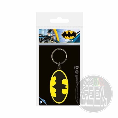 DC Comics Rubber Keychain Batman Symbol
