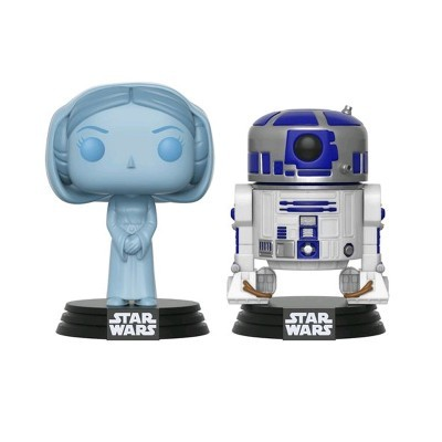 FUNKO POP! Star Wars - 2-Pack Holographic Leia & R2D2 (SDCC 2017)