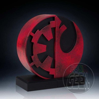 Star Wars Bookends Imperial/Rebel Logo