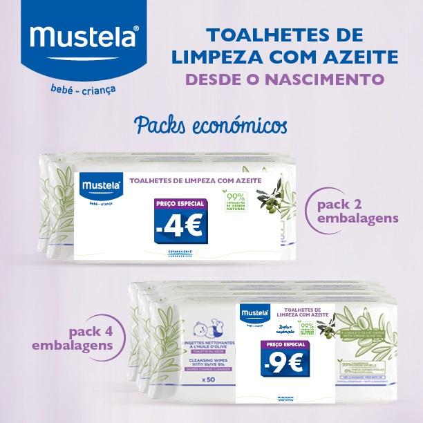 Mustela | Toalhetes de Limpeza Azeite (Pack Económico)