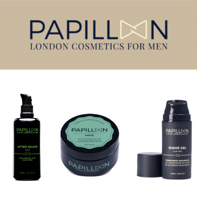 Papillon | After Shave Balm + Paste + Shave Gel